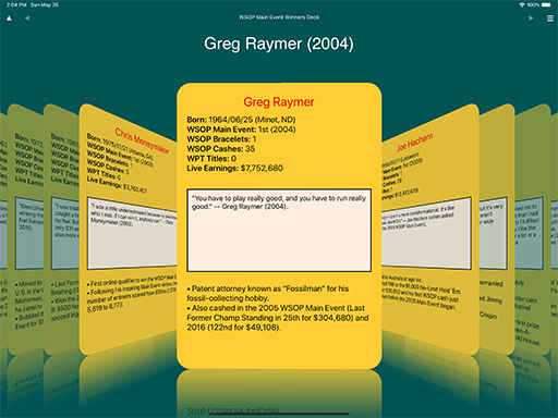 Greg Raymer data